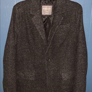 Grey tweed men's blazer